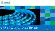 OLED Display Market in APAC 2014-2018
