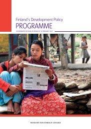 Finland's Development Policy Programme 2012