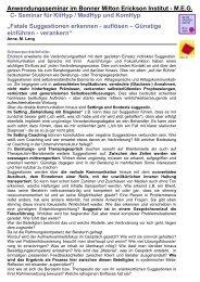 """Seminar für KliHyp / MedHyp und KomHyp """"Fatale ... - Institut Systeme"""