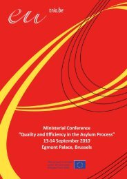 Ministerial Conference - Belgian Presidency of the Council of the ...