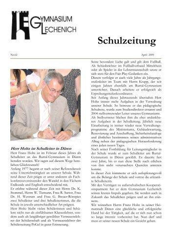 Schulzeitung - Ausgabe Ostern 2009 - Gymnasium Lechenich Erftstadt