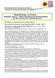 Weiterbildungs- Curriculum KomHyp - MEG - Institut  Systeme