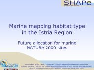 Mapping marine habitat type in Istria Region-future ... - Shape