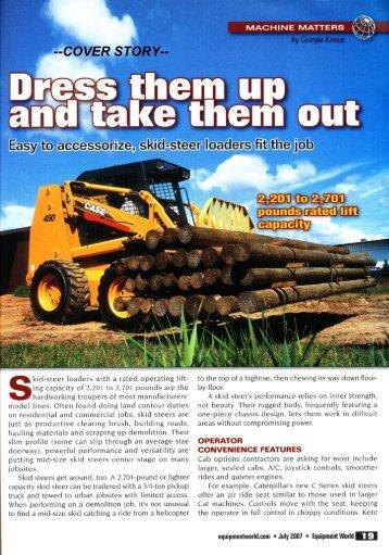 Easy to accessori ze, skid-steer loaders fit the iob - Georgia Krause ...
