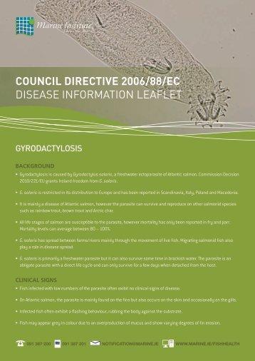 Download disease information leaflet on ... - Marine Institute