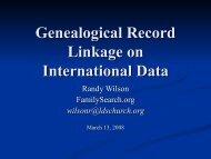 Genealogical Record Linkage on International Data