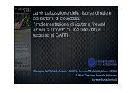 La virtualizzazione delle risorse di rete e dei sistemi di ... - Garr