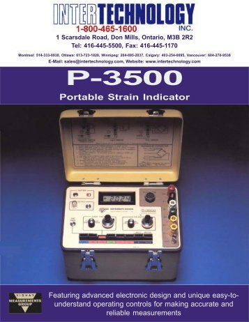Model P-3500 - Cours