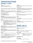 Model P-3500 - Cours - Page 4