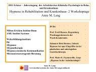 Hypnose in Rehabilitation und Krankenhaus- 2 ... - Institut Systeme