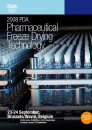 Pharmaceutical Freeze Drying - GEA Pharma Systems