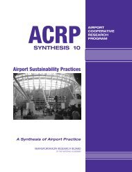 Airport Sustainability Practices - Transportation Research Board