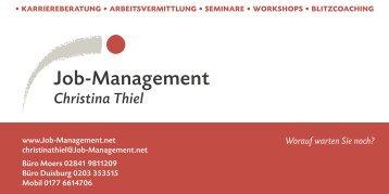 Christina Thiel - Job-Management
