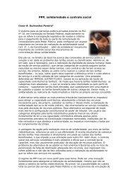 PPP, solidariedade e controle social - Justen, Pereira, Oliveira ...