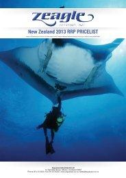 New Zealand 2013 RRP PRICELIST - Scuba Steve Wanaka