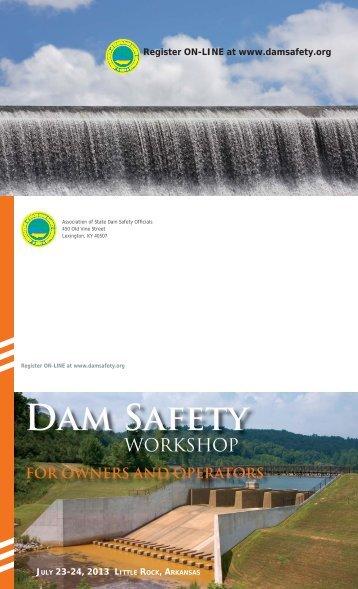 Download Registration Flyer - Association of State Dam Safety ...