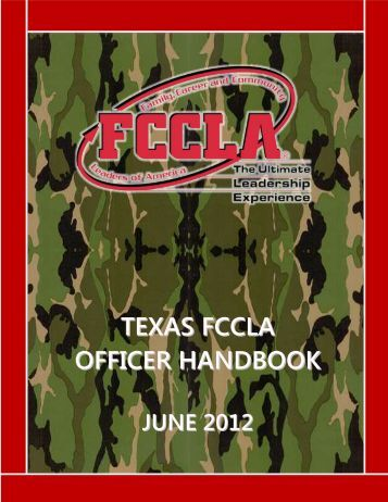 TEXAS FCCLA OFFICER HANDBOOK