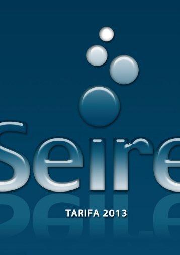 Tarifas generales Seire 2013