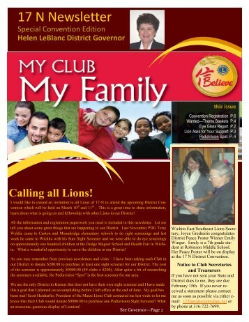 17 N Newsletter - Kansas Lions District 17-N