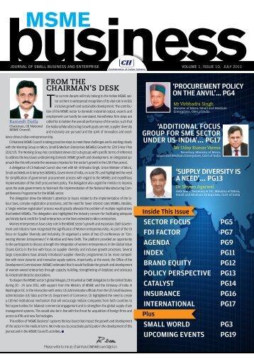 Sector FocuS Pg5 FDI Factor Pg7 agenDa Pg9 InDex Pg11 ... - CII
