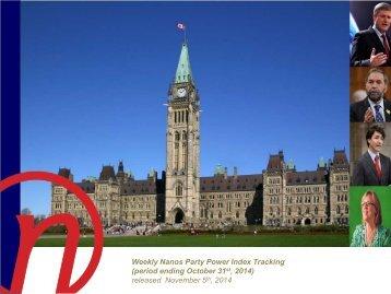 Nanos Political Index 2014-10-31E