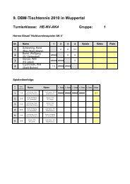 9. DBM-Tischtennis 2010 in Wuppertal Turnierklasse: HE-NV ... - BKV