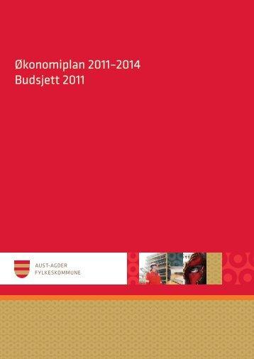 Økonomiplan 2011–2014 Budsjett 2011 - Aust-Agder fylkeskommune