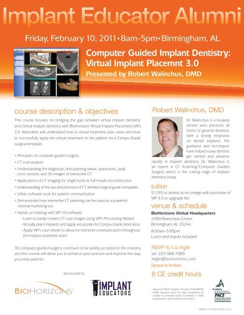 Computer Guided Implant Dentistry Virtual Implant