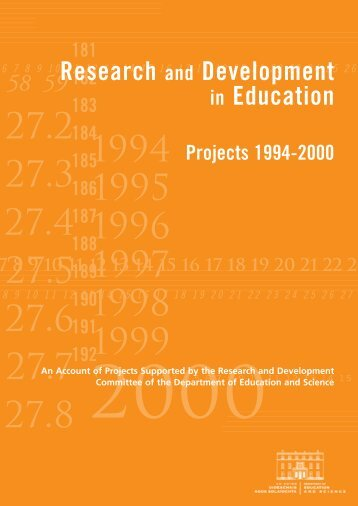 Research and Development in Education Projects 1994 - 2000