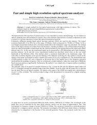 CMU3 - Fast and Simple High-Resolution Optical Spectrum Analyzer