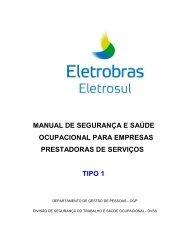 Manual de Segurança e Saúde Ocupacional para ... - Eletrosul