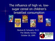 High vs. low sugar cereals - Cereal FACTS