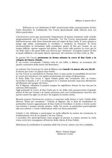 Commenti rito ambrosiano 03 marzo padre lino for Vangelo del giorno ambrosiano
