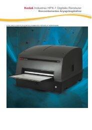 Kodak Industrex HPX-1 Digitális Rendszer - Uniford RM Kft.