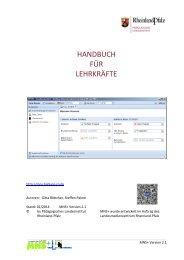 HANDBUCH FÜR LEHRKRÄFTE - MNS+