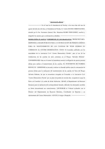 ACTA Nº 431 - Intendencia Municipal de Florida