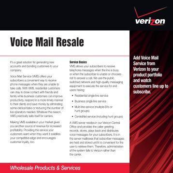 Voice Mail Resale - Verizon