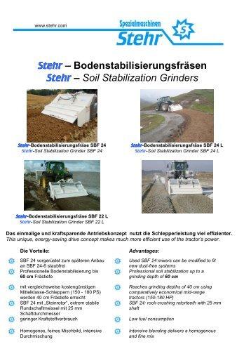 Stehr – Bodenstabilisierungsfräsen