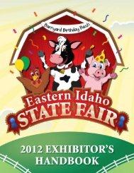 2012 Exhibitor Handbook - Eastern Idaho State Fair