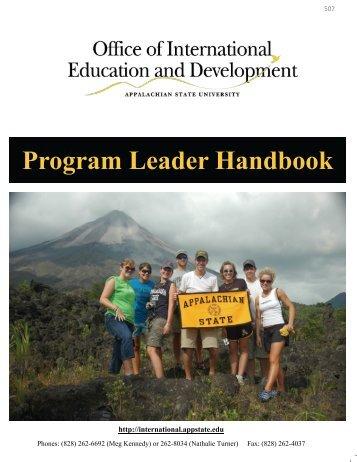 Program Leader Handbook - International Education and ...