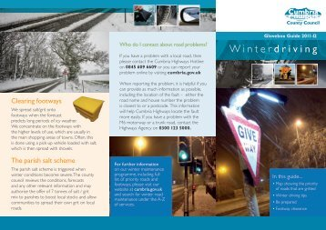 glovebox guide to winter driving - Cumbria County Council