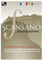 brochure del Festival 2013 - Comune di Scansano