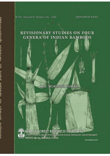 Final report bamboo revisionary - Kerala Forest Research Institute