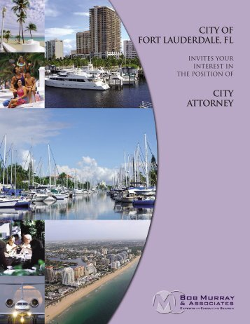 CITY OF FORT LAUDERDALE, fl - Bob Murray & Associates