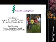Project Learning Tree Overview