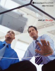 start at the edge MBA - Lally School of Management and Technology