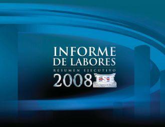 Informe de Labores 2008 - Tribunal Supremo de Elecciones