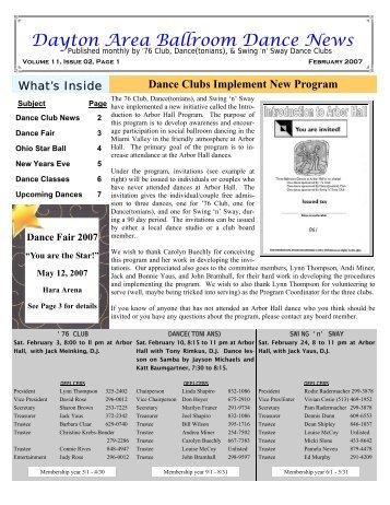 11 02February2007Newsletter - Ballroom Dance Dayton