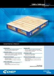 CHEP Dřevěná paleta (typ průmyslová)