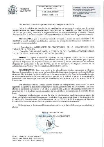 Acuerdo sede de la secretaria general ministerio de for Secretaria del ministerio del interior